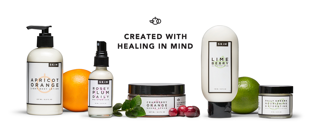 created with healing in mind with nourishing lotions