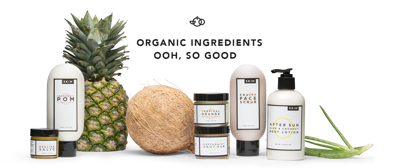 organic ingredients in all our products
