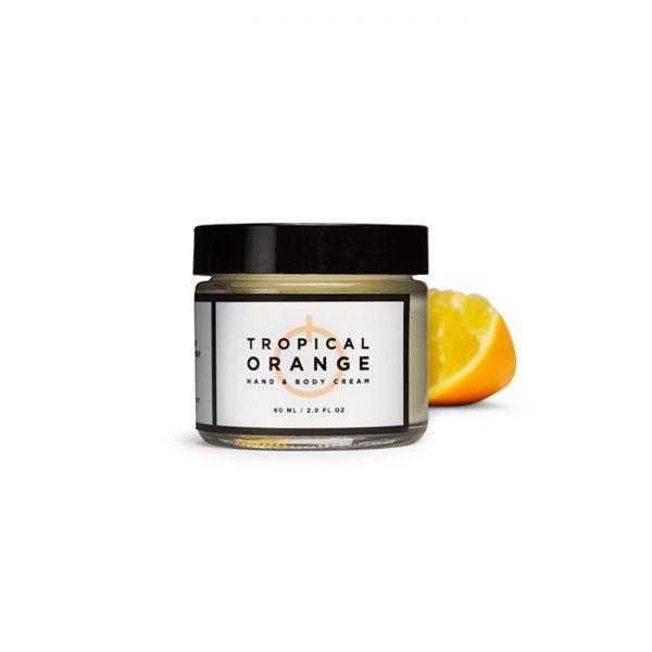 tropical orange hand and body cream